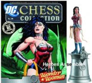 DC Chess Figurine Collection #34 Wonder Woman White Queen with Chess Board Justice League Eaglemoss